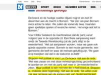 """Nieuwsblad 19/10/2018: """"Stoppen met politiek is voor Luc De boeck niet aan de orde. """""""