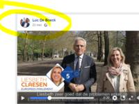 Reclame voor de kiescampagne van toekomstig OCMW-voorzitter Liesbet Claessen, CDenV Keerbergen